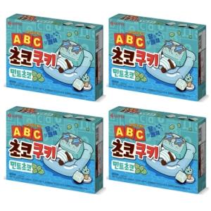 롯데제과 ABC 초코쿠키 민트초코 130g[4개]